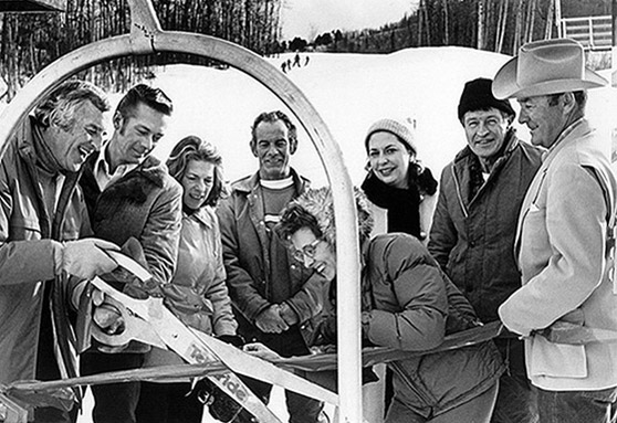 Photo of ribbon cutting for Telluride ski area